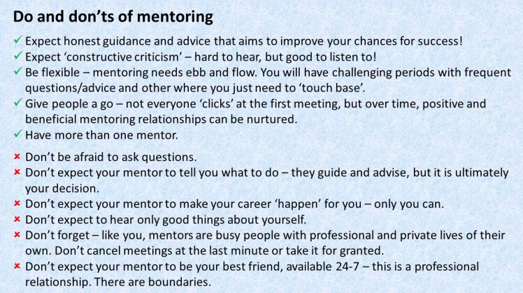Do and don't of mentoring