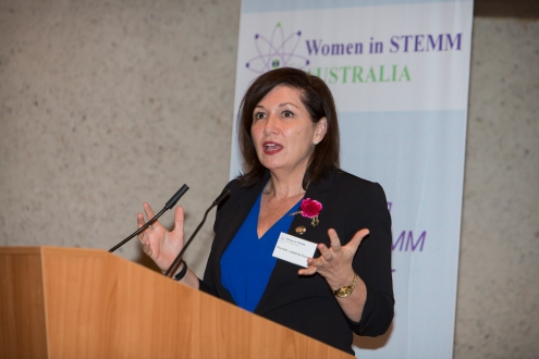 Queensland's Minister for Science, the Honorable Leanne Enoch, welcomes delegates to the Sciencentre in Brisbane [Image: Foster Photography]